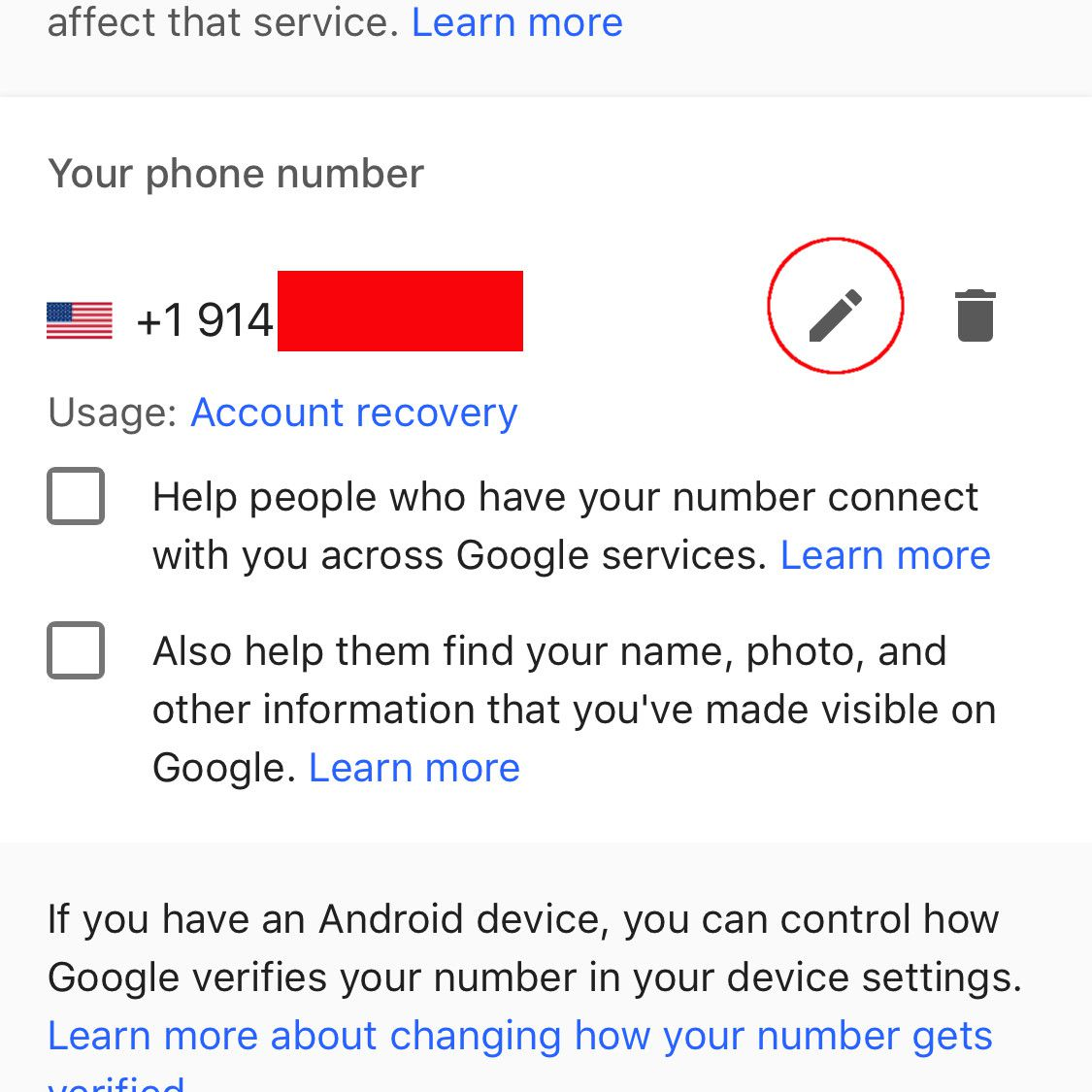 change google accounts on android