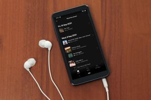 Spotify History displayed on a phone.