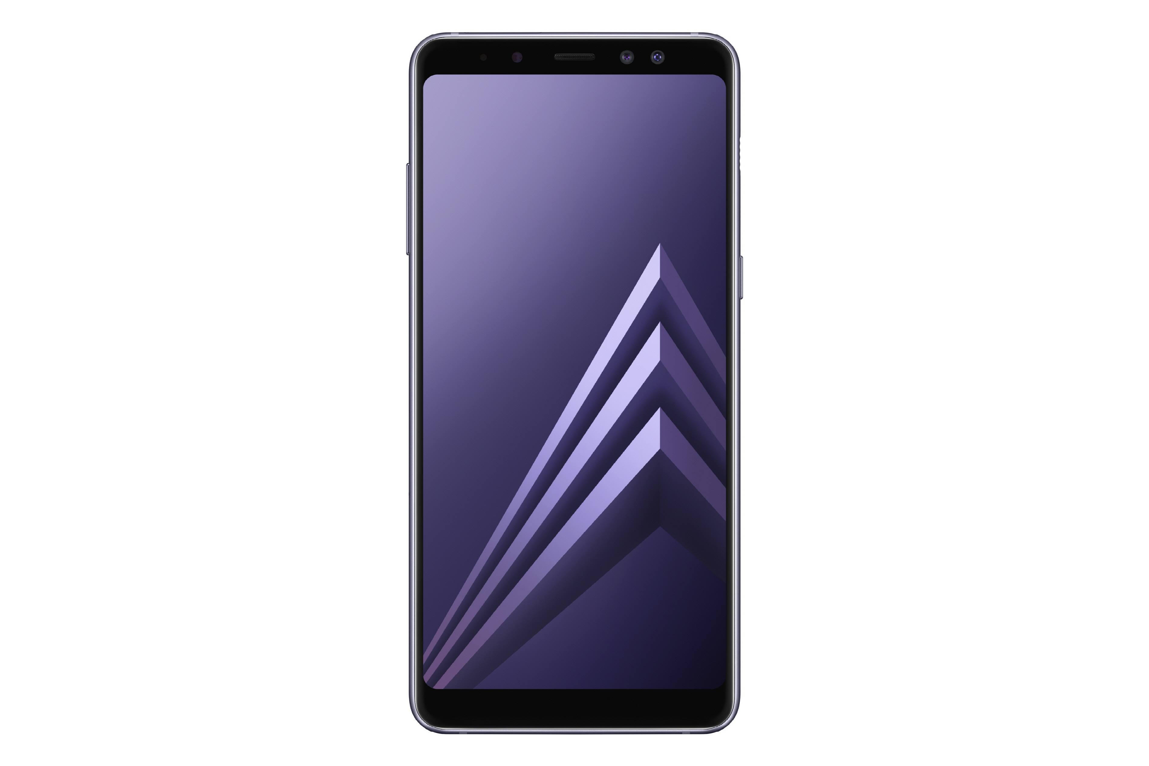 2da3fc14abb309 Samsung Galaxy S8 smartphone, front view, in orchid grey color