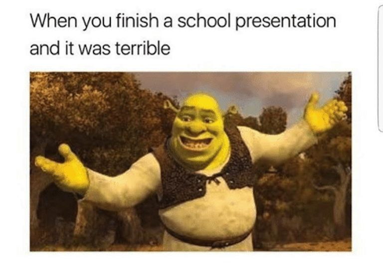 memes meme relatable shrek funny presentation finish cool hilarious terrible