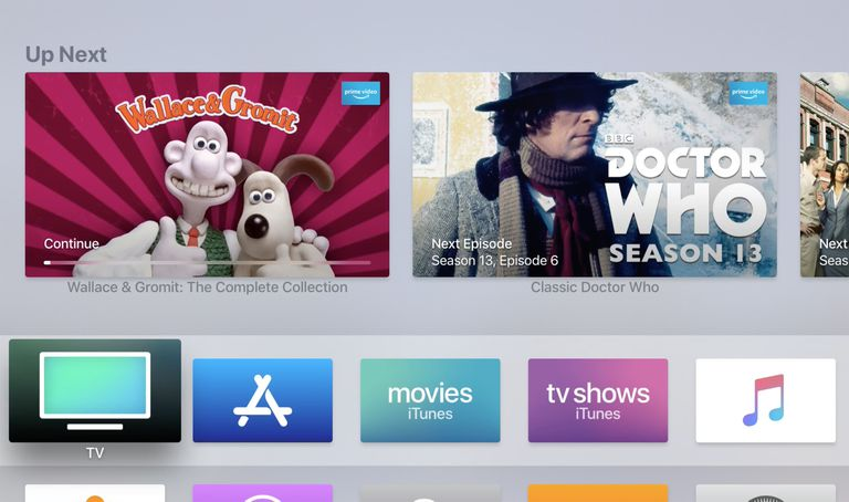 Apple TV Home page.
