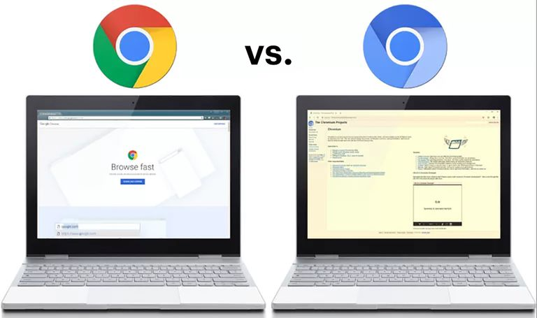 chrome vs chromium web browsers