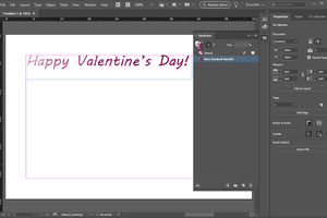 InDesign text with gradient
