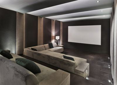 Home theatre with recliners