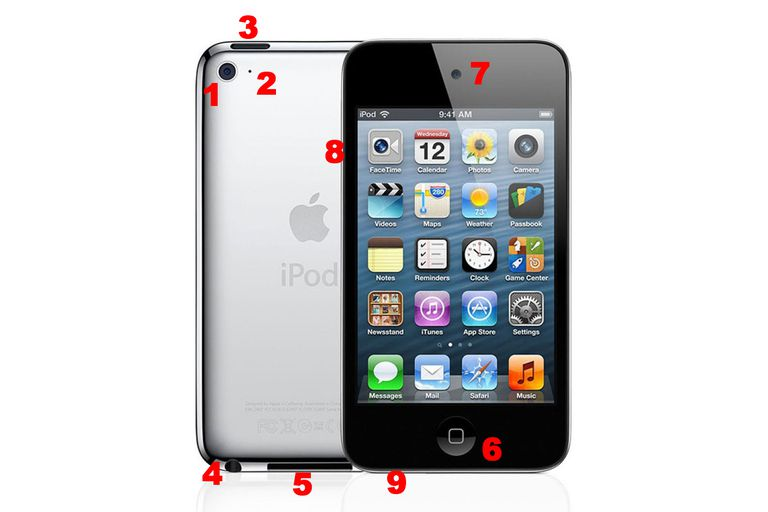 4th Gen. iPod touch hardware