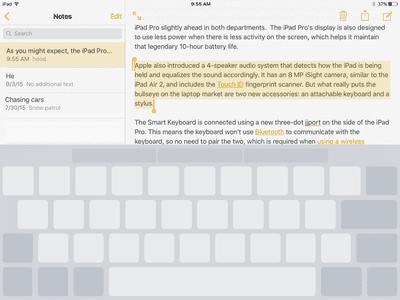 iPad screen showing virtual trackpad