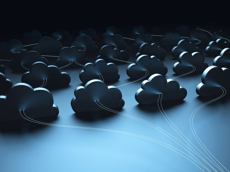 Conceptual image of cloud data