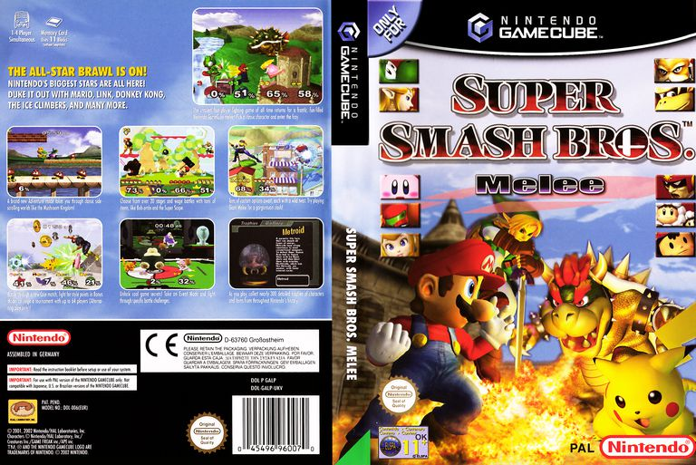 Super Smash Bros box art