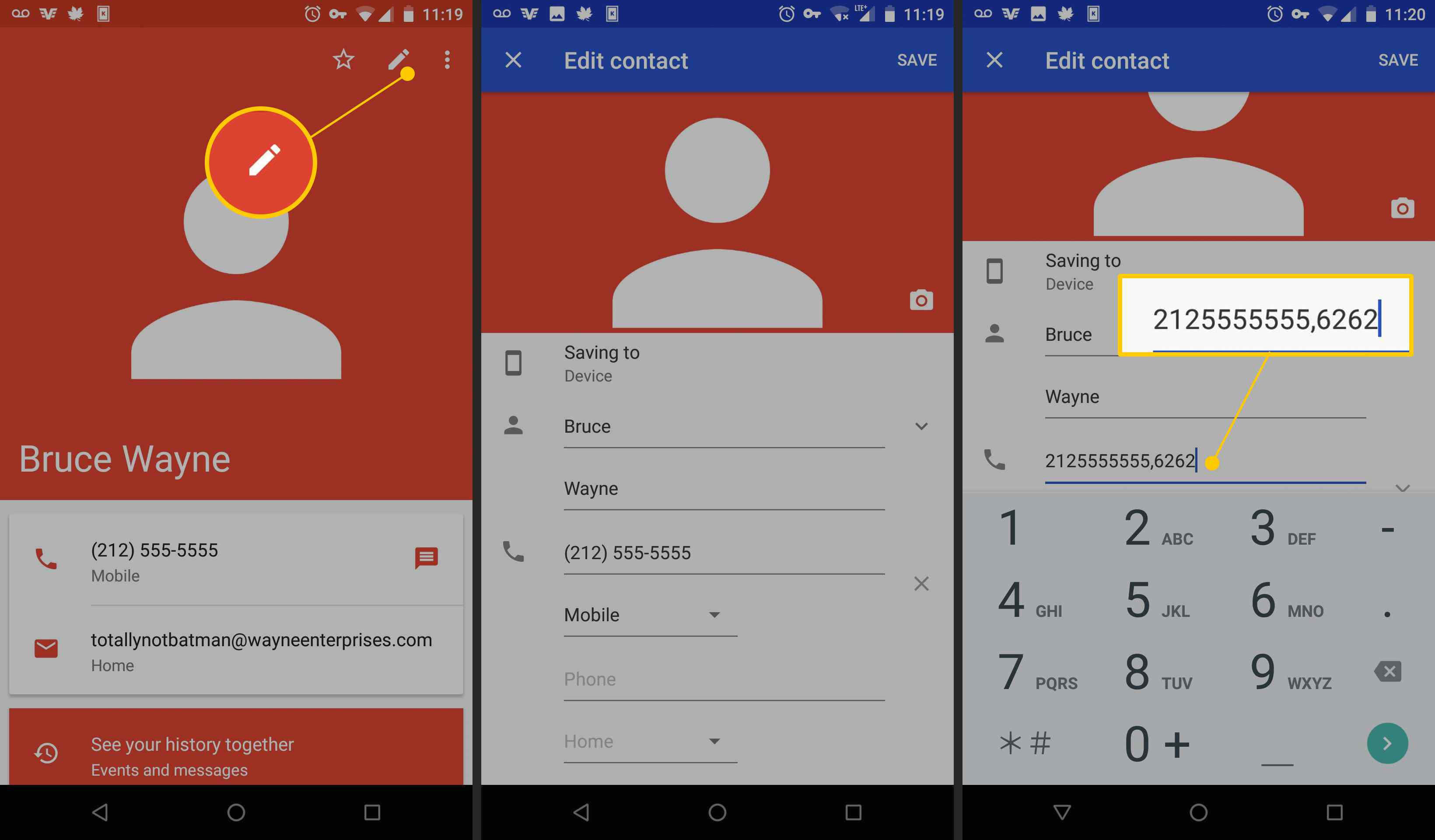 How to Automatically Dial Extensions on Android