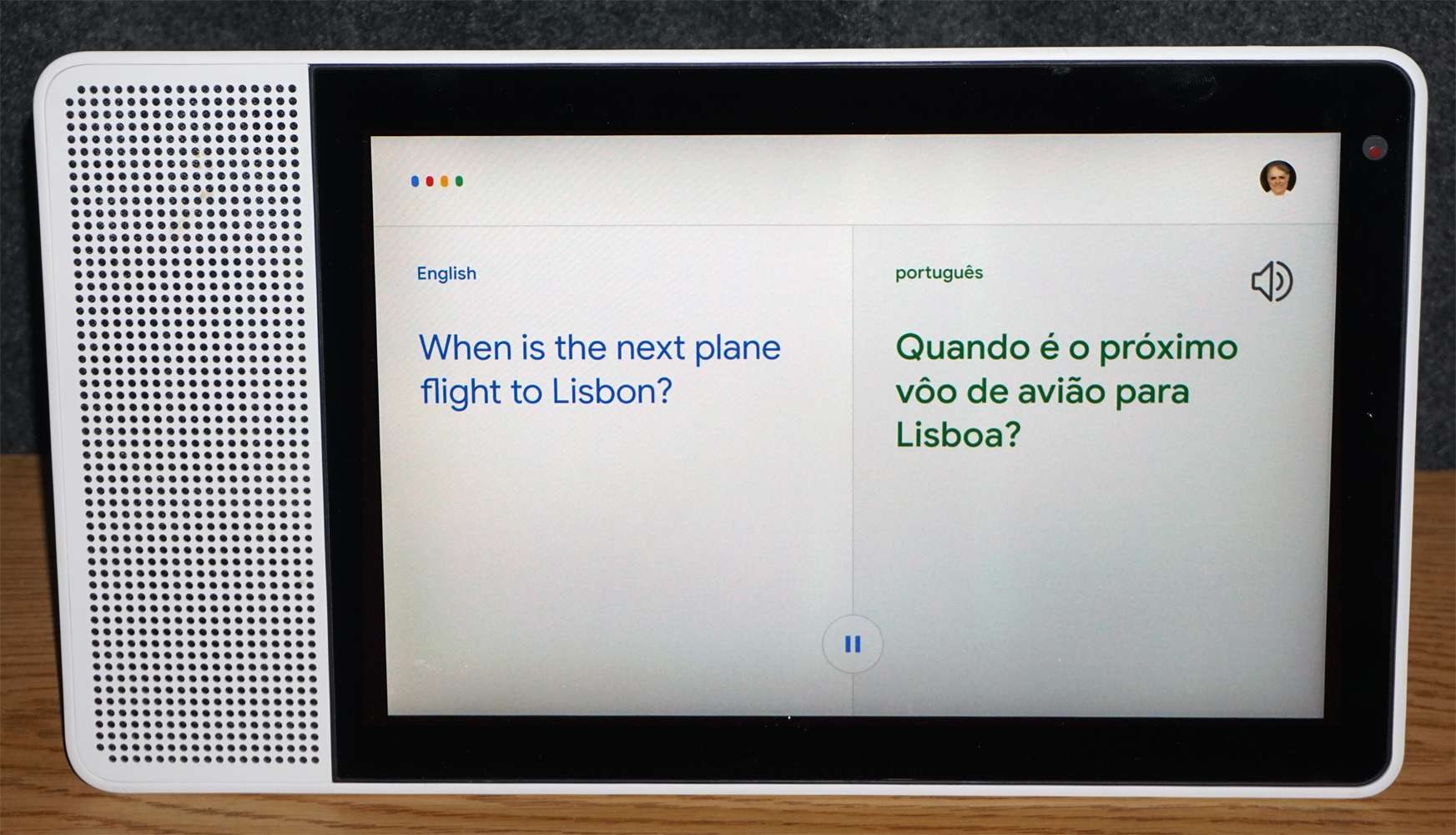 Lenovo Google Smart Display – Interpreter Mode