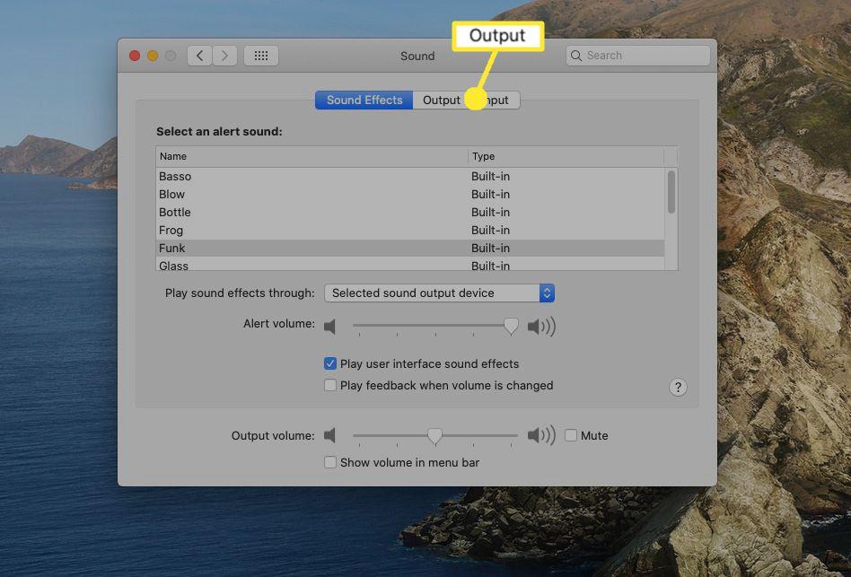 Select Output.