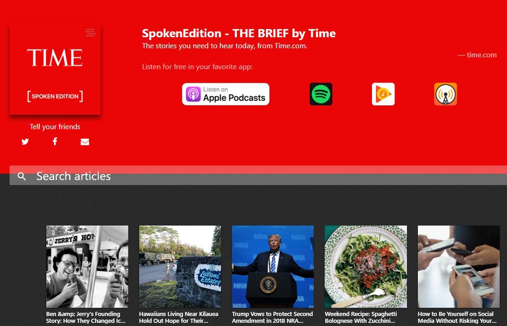TIME Spoken Edition news podcast