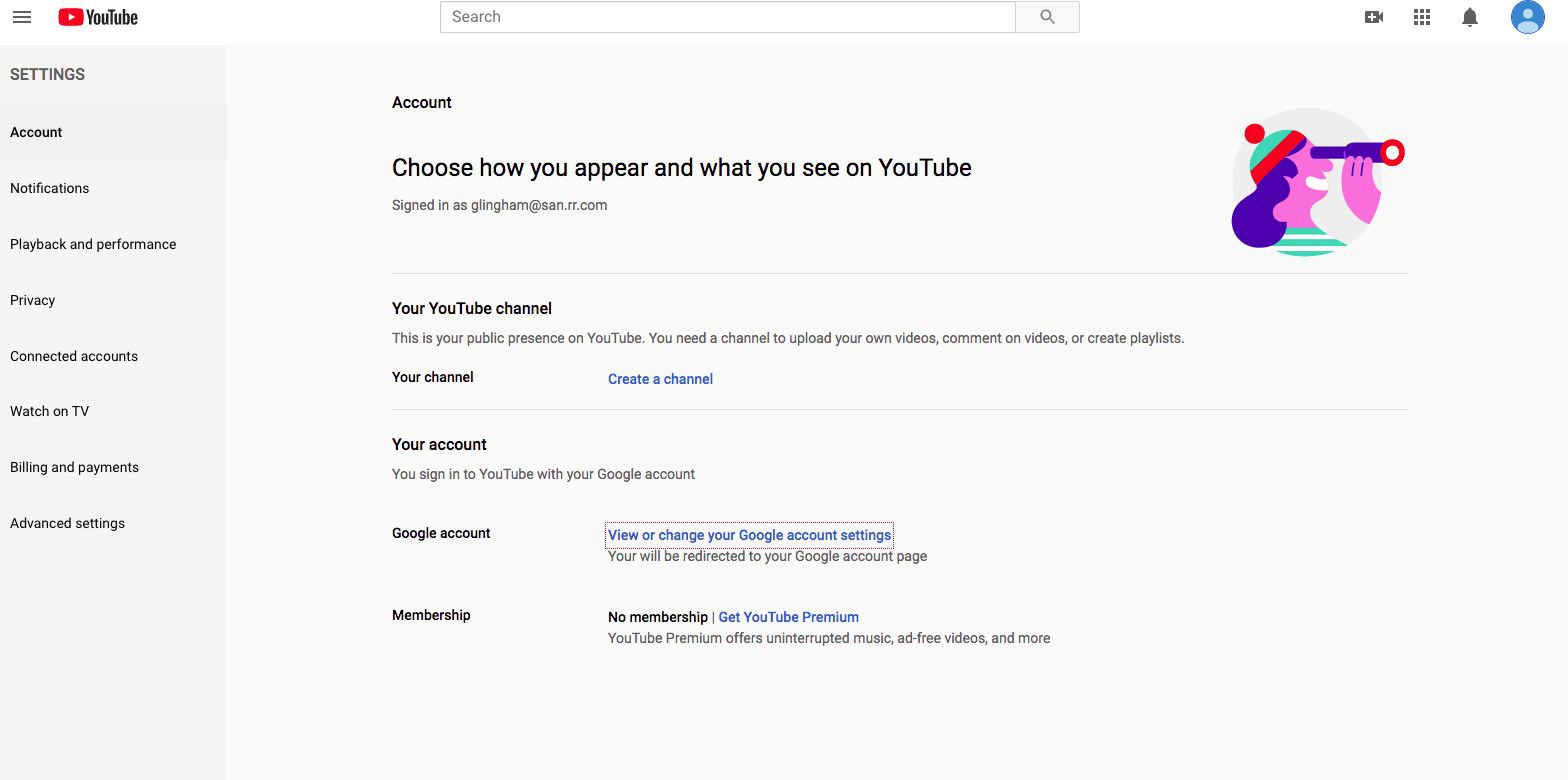 YouTube Notification Settings