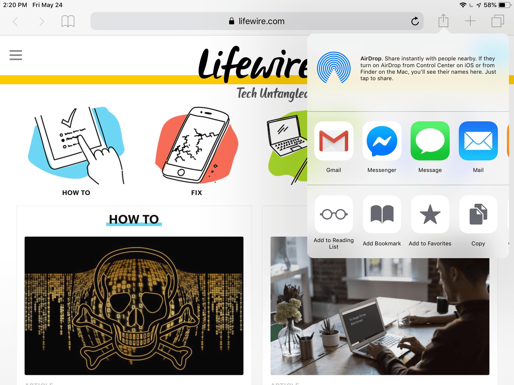 how do you edit favorites in safari on ipad