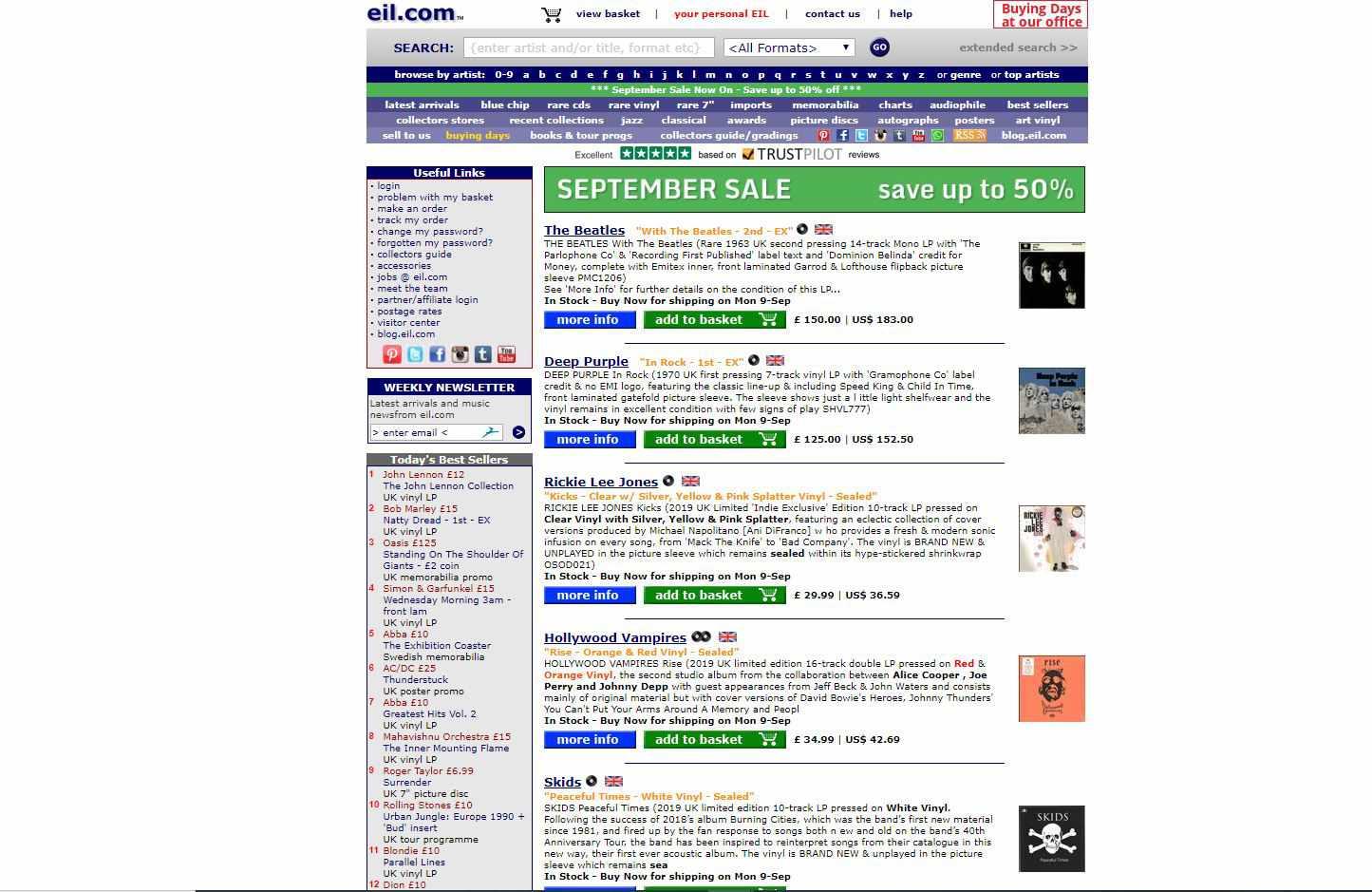Screenshot of EIL.com