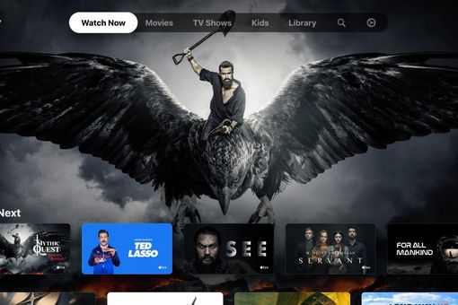 Apple TV app on Xbox Series X and Series S showing Mythic Quest, Ted Lasso and more