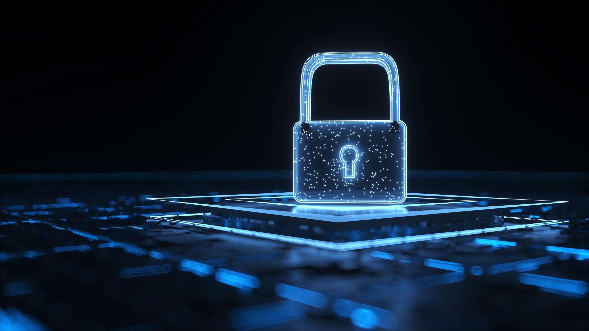 Digital lock protecting information