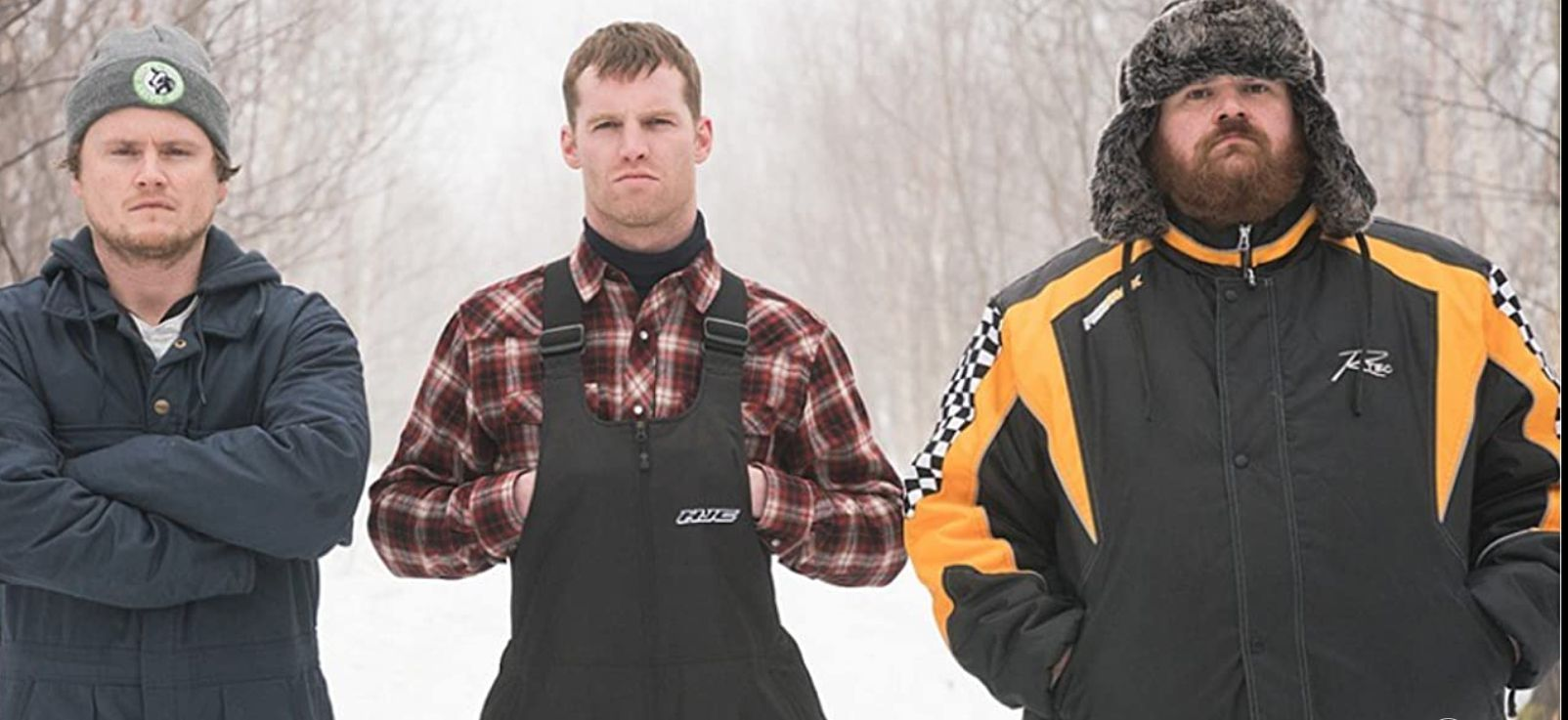 K. Trevor Wilson, Jared Keeso, and Nathan Dales in 'Letterkenny.'