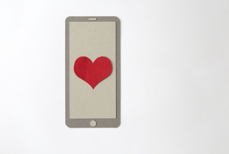 A heart on a smartphone screen.