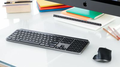 The Logitech MX Keyboard and MX Master mouse for Mac computers.
