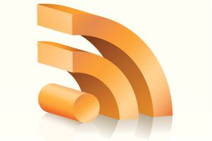 3D RSS feed symbol