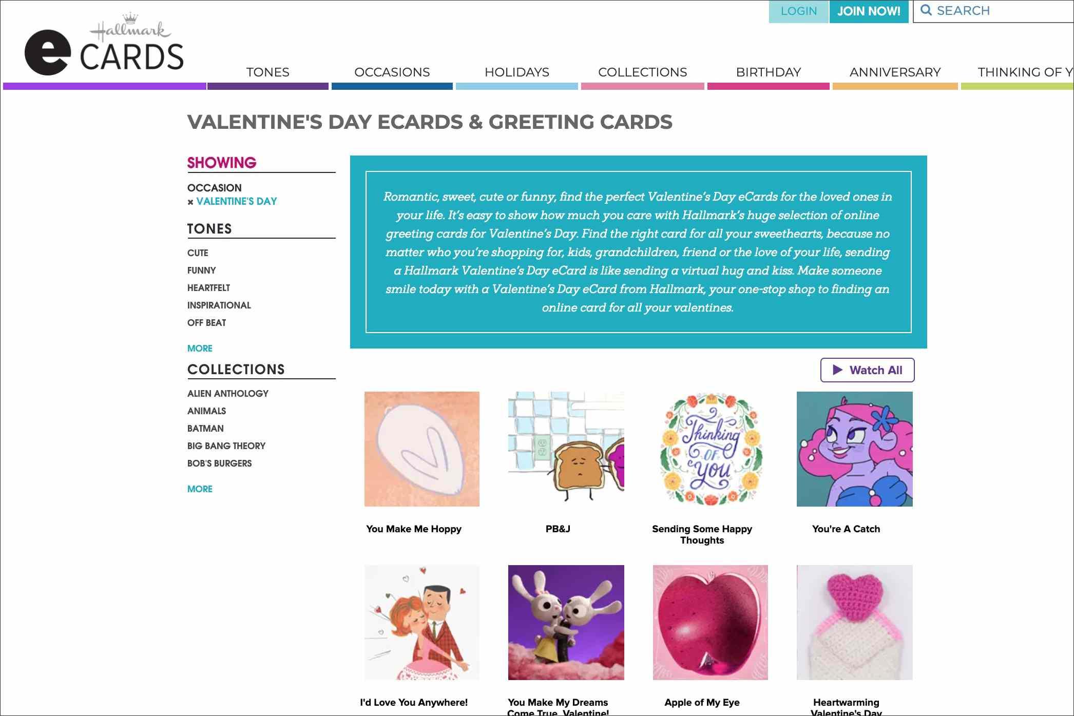 Hallmark e-cards