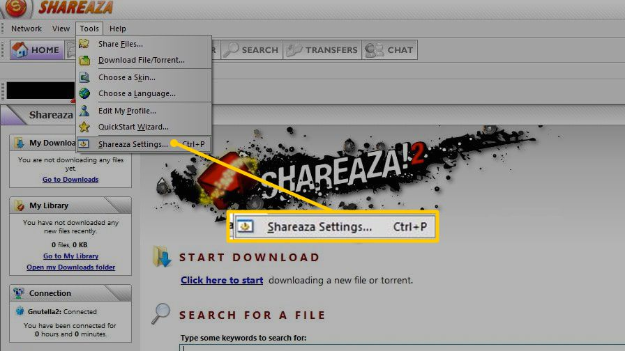 How to Disable File Sharing in Shareaza