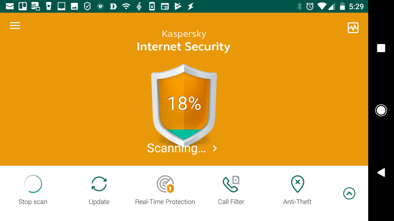 Mobile screenshot of Kaspersky Antivirus for Android
