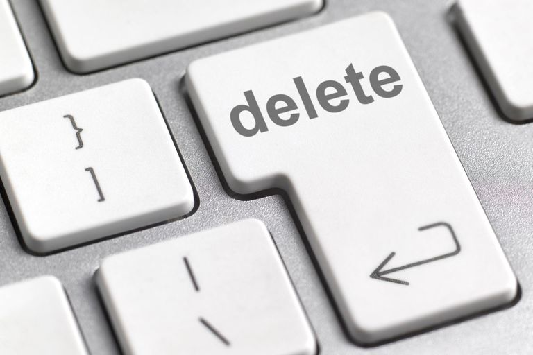 Delete key on a keyboard.