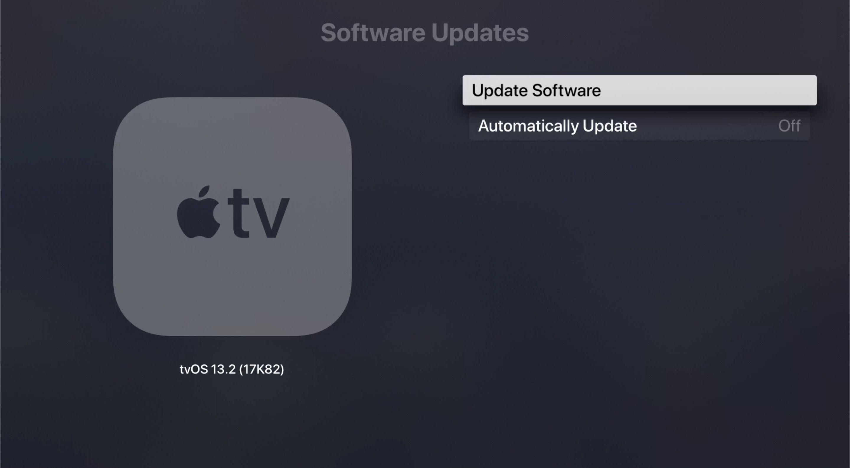 Update Software in tvOS