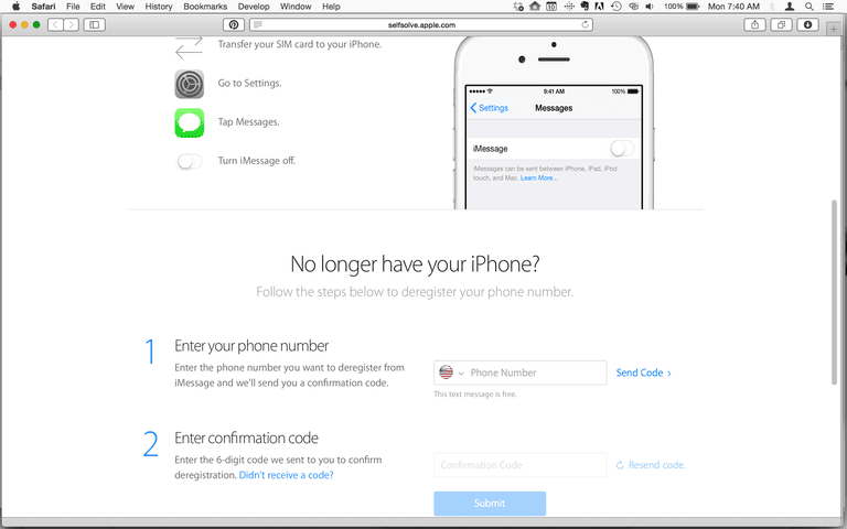 iMessage removal tool