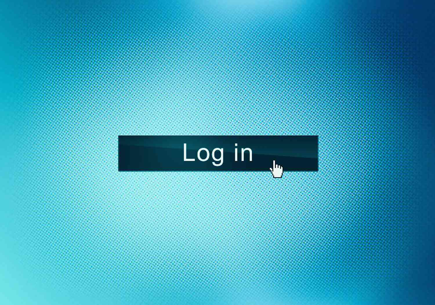 Close up of web page Log in button