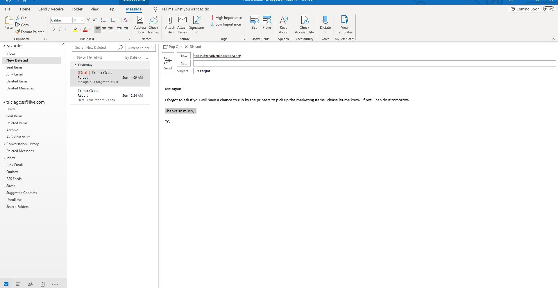 Highlight Text With Marker Pen Background Color in Outlook