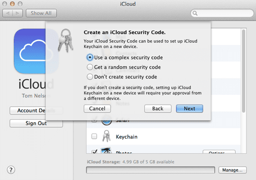 Set up iCloud Keychain on the Mac to Improve Security 79cb853469