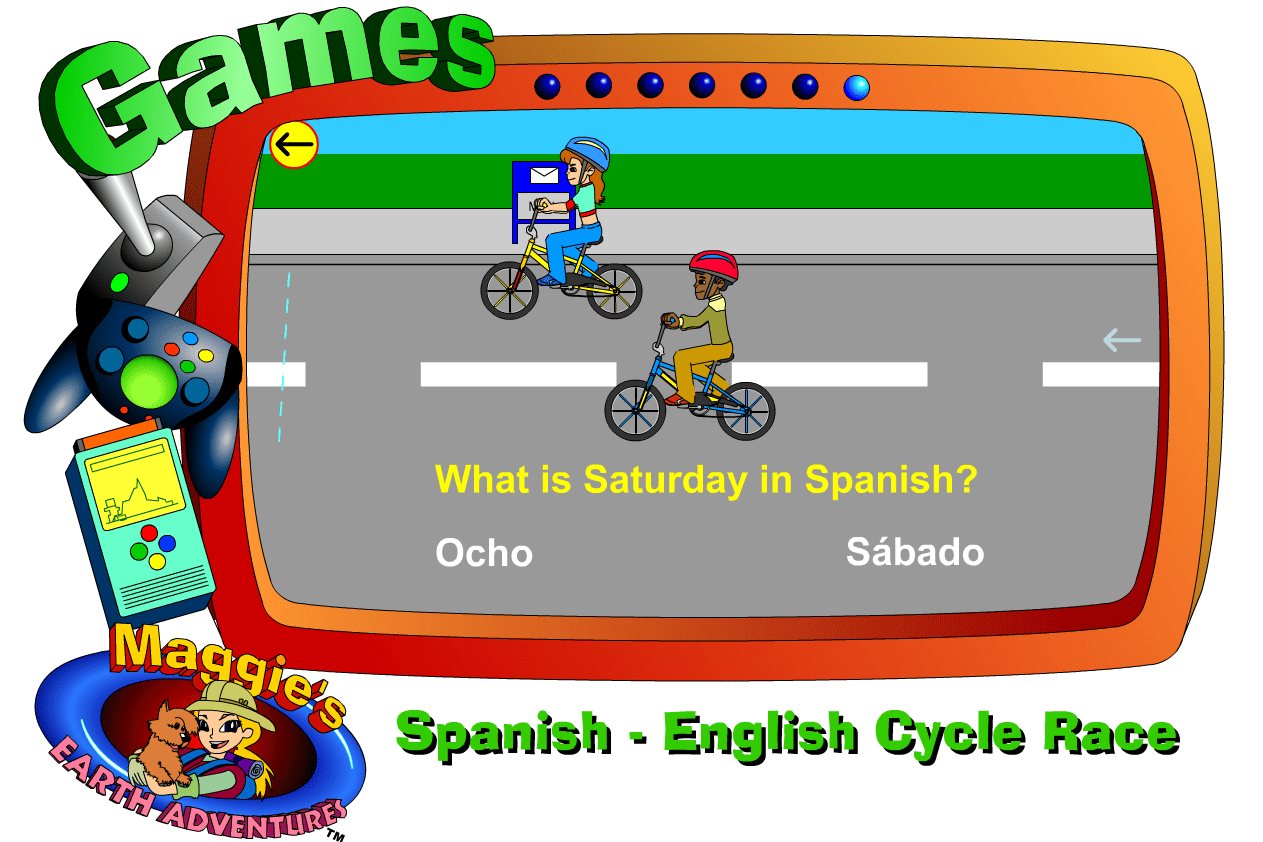 Spanish-English Cycle Race online game