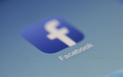 Facebook app icon on a mobile device screen