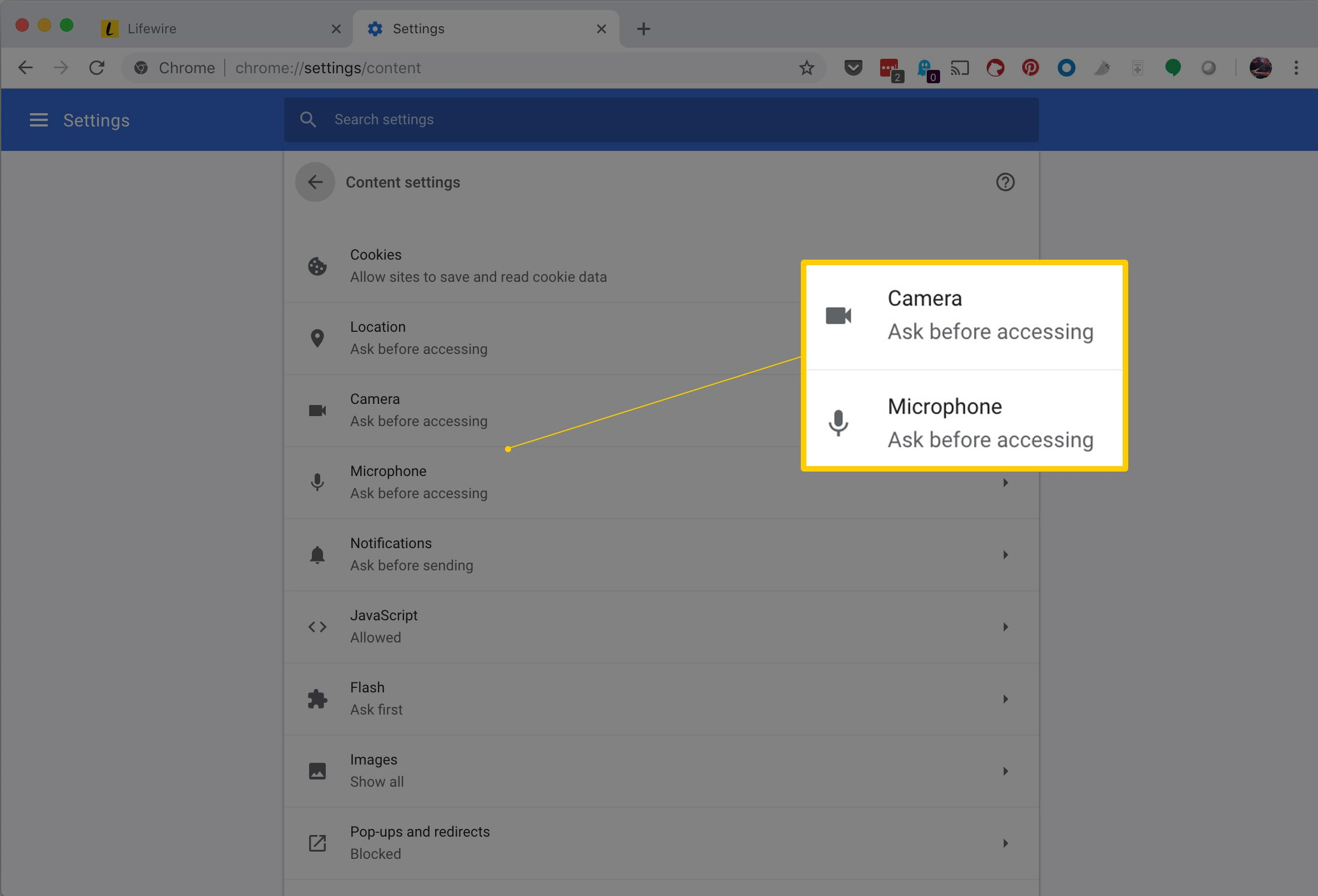 How to Allow (or Block) Camera and Mic Access in Chrome
