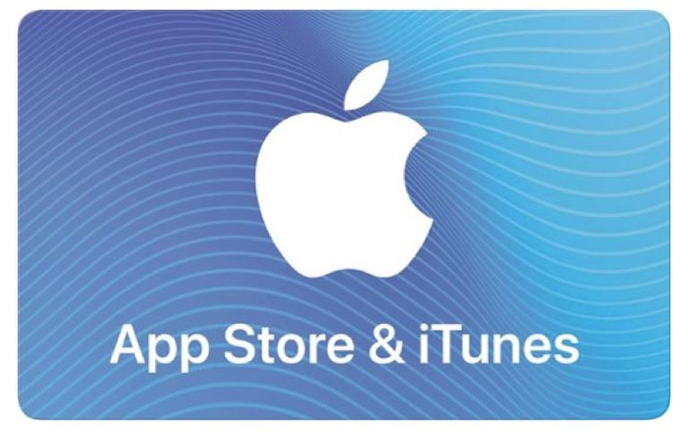 Screenshot of an App Store & iTunes Gift Card