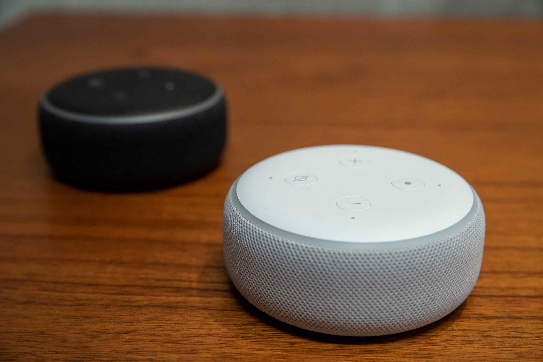 Amazon Dots on table