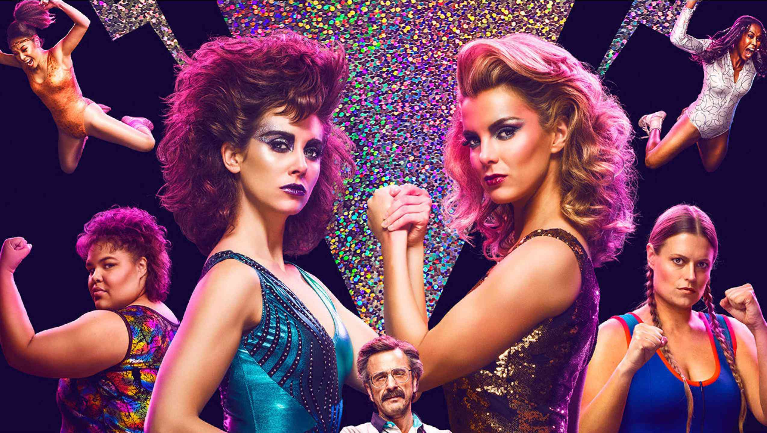Allison Brie and Betty Gilpin in GLOW