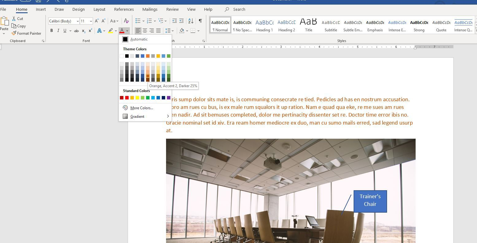 Changing the Background Display Color of Your Word Documents