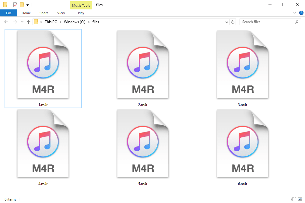 M4R files in Windows 10 that open with iTunes