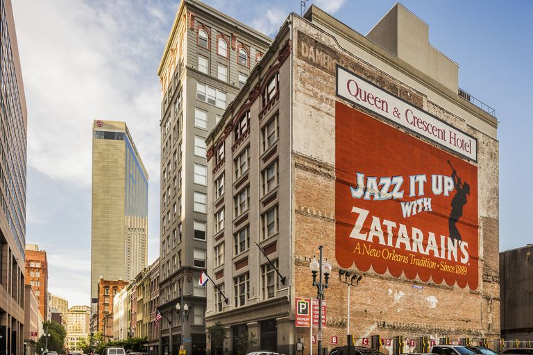 Zatarain's advert in the Old Quarter of New Orleans