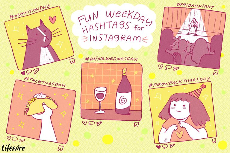 Fun Instagram Hashtags for Thursday, Friday, and More