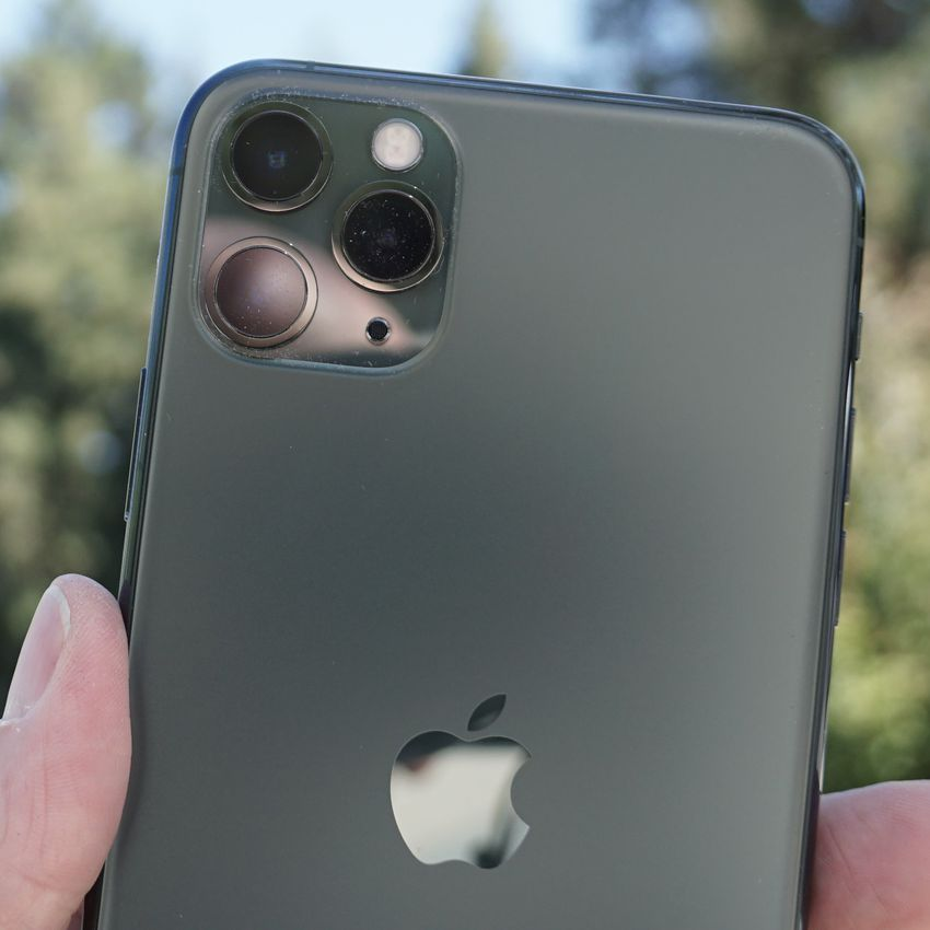 """The three-lens """"camera square"""" on Apple iPhone 11 Pro"""