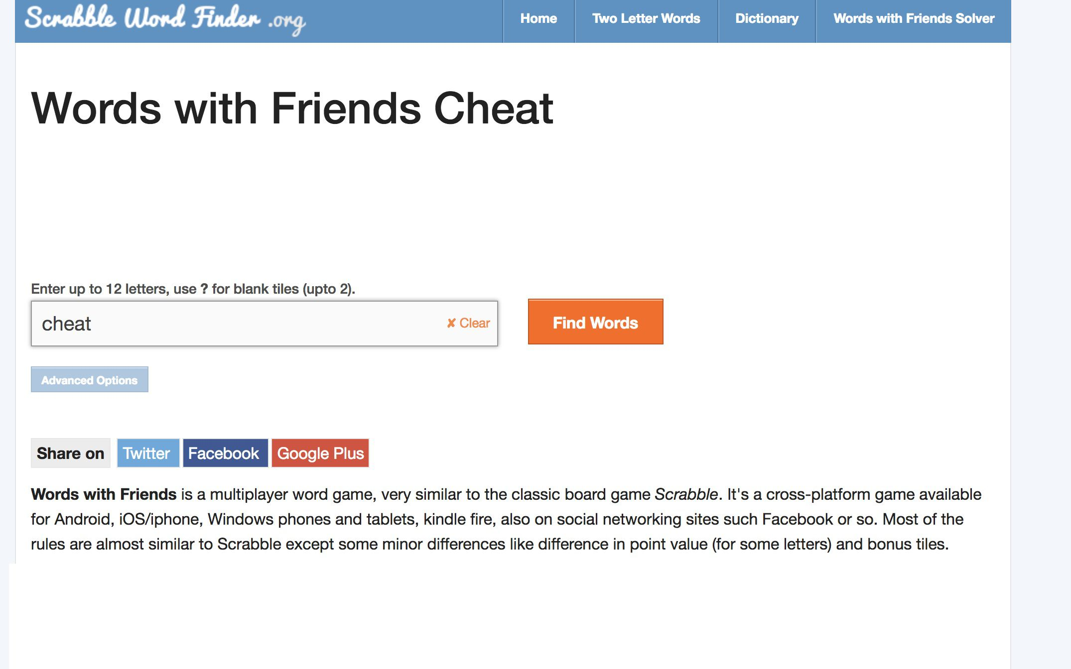 How to <b>Cheat</b> on <b>Words</b> With <b>Friends</b>