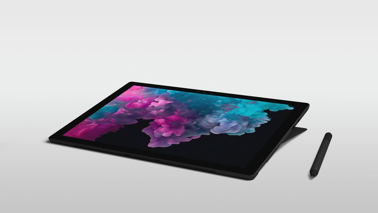 A screenshot of the Surface Pro 6 tablet with stylus pen