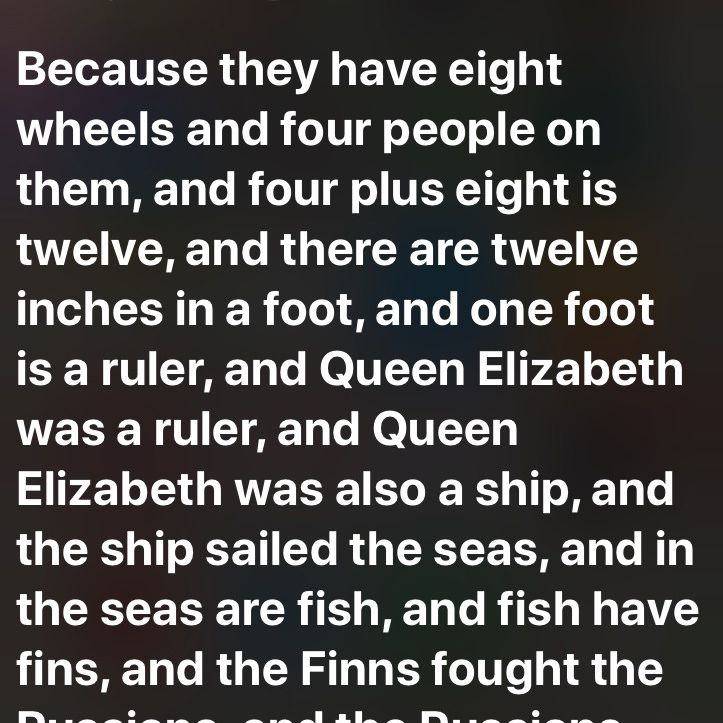 Siri response to