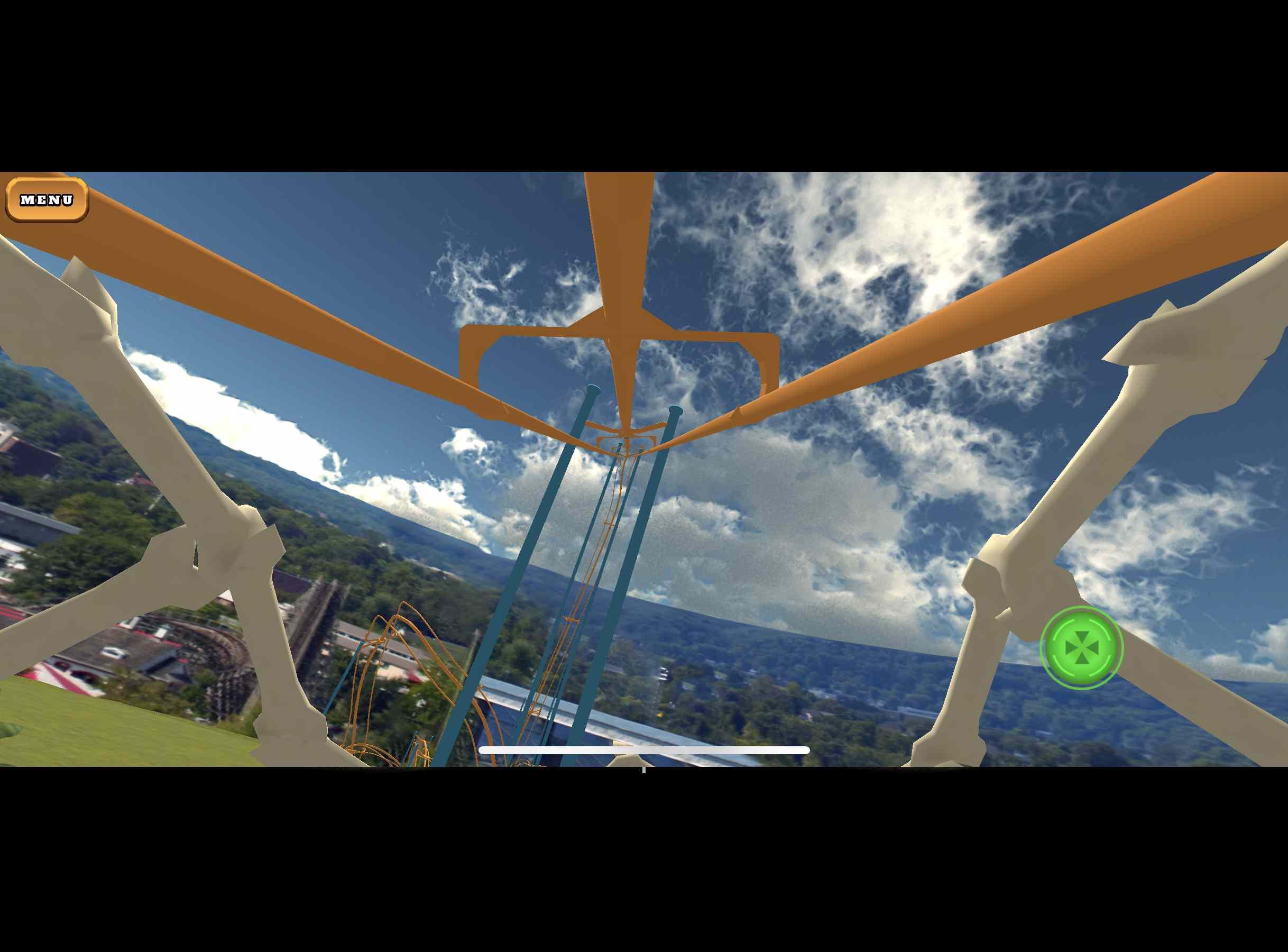 Roller Coaster VR Theme Park app on iPhone.