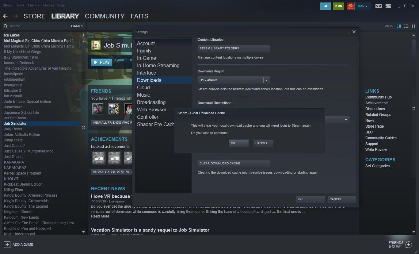 Steam Stuck Downloading